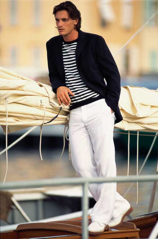 Faconnable Saint Tropez Spring-Summer 2005-Men summer pants and light jacket
